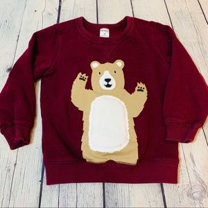 Carters Maroon Bear Sweater Size 3T